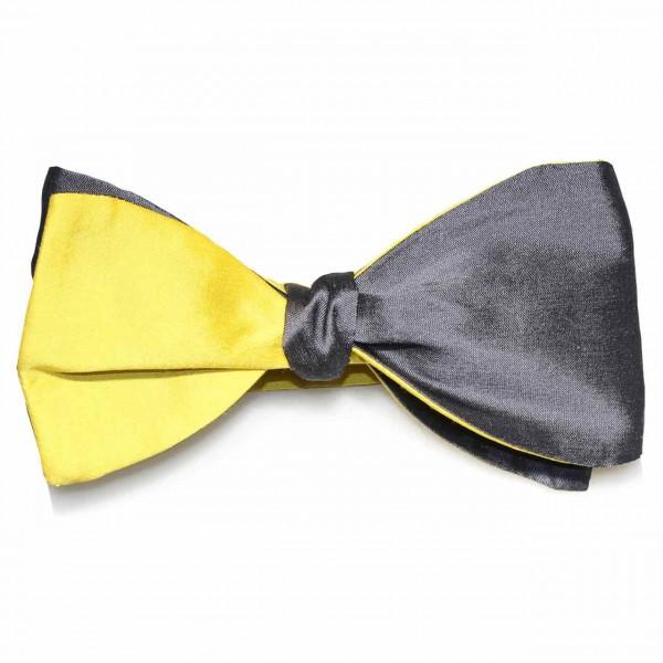 """""""Cesare"""", gelb graue Fliege zum Selbstbinden"""