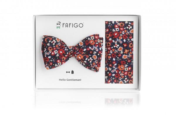 """""""Alcamo"""", florales Fliege + Einstecktuch Set"""