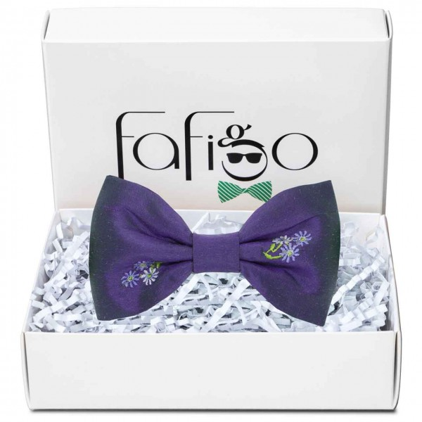 Prato Viola, lila Herren Fliege mit besticktem Blumenmuster