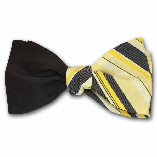 """""""Lucky"""", gelb schwarzer Selbstbinder"""