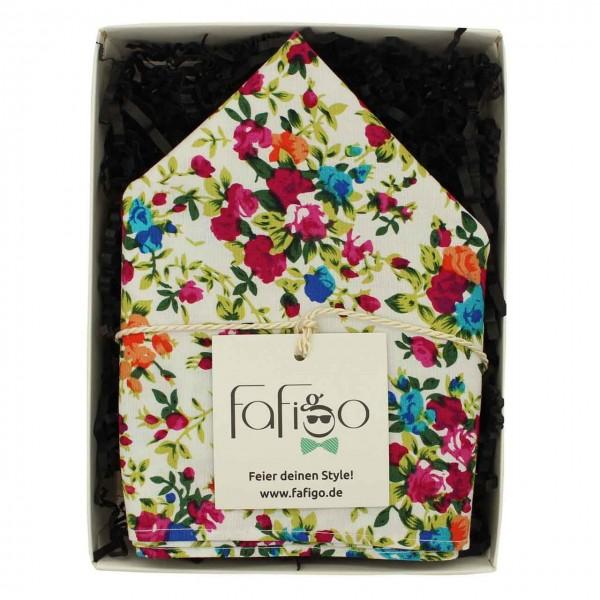 Fiori Colori, Einstecktuch mit Blumenmotiv