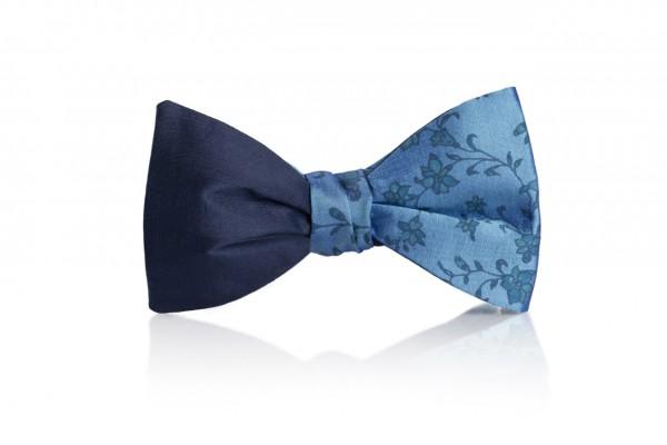 Grillo Herren Fliege in Blau aus Seide