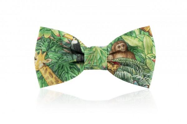 Grüne Kinderfliege Giungla mit Dschungel Optik
